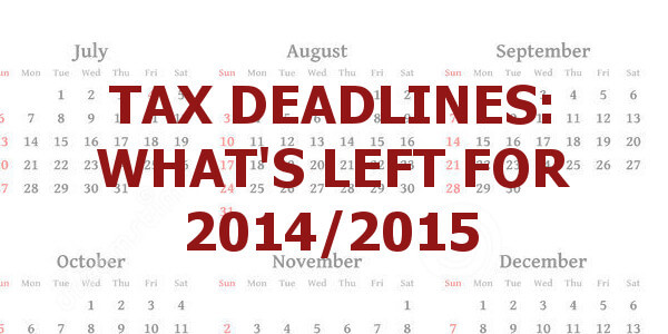 Tax deadlines calendar main image